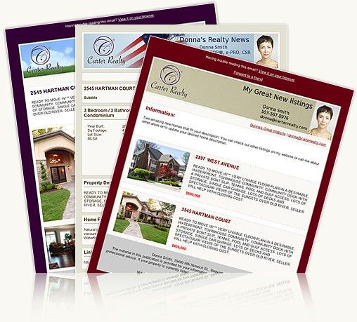 Real Estate Email Newsletters and Listing Flyers   ManageAgent.com