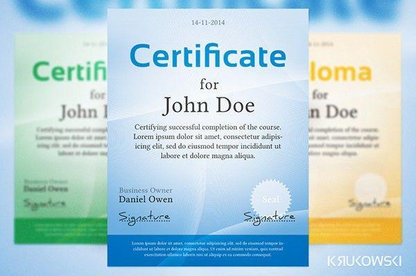 50 Creative Custom Certificate Design Templates | Free & Premium ...