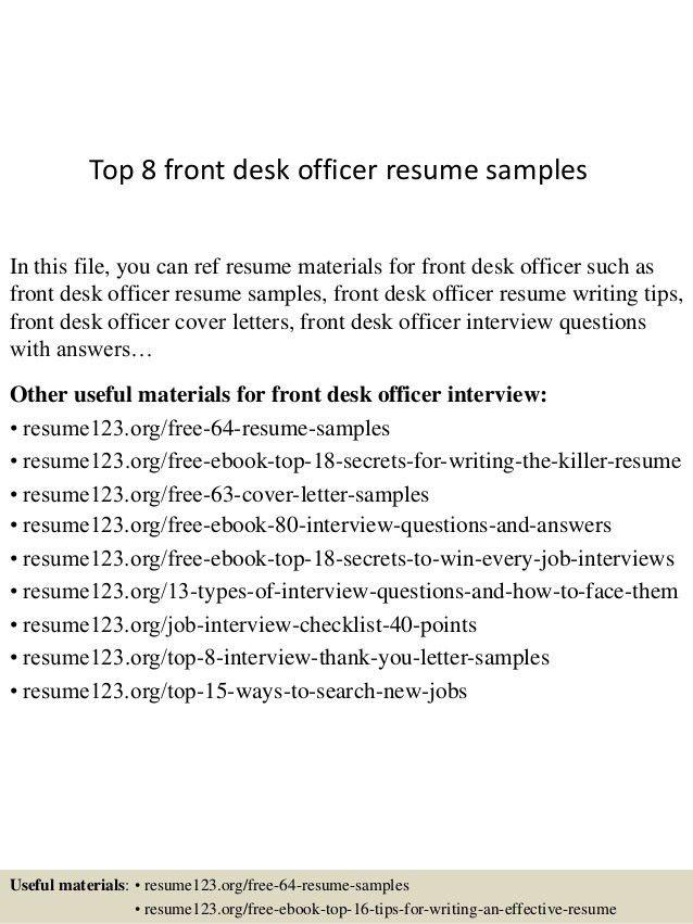 front desk resume sample unforgettable front desk clerk resume