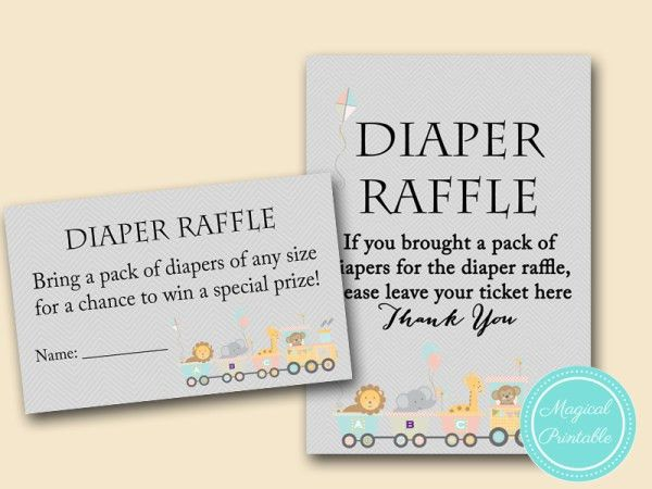 TLC54-diaper-raffle-tickets and signs | Baby Shower Game ...