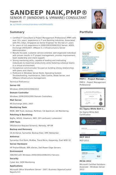 Senior Engineer Resume samples - VisualCV resume samples database
