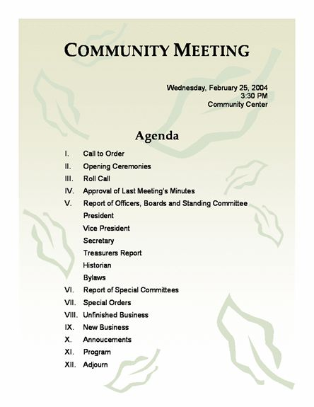 10 Best Images of Church Conference Agenda Template - Church ...