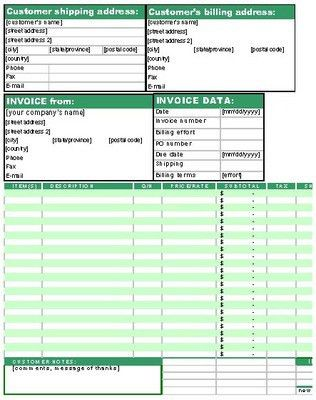 Service Shipping Invoice Work Order Template Form - Download Business