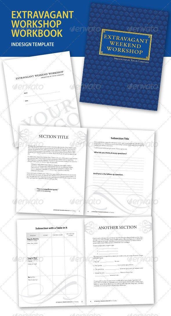 Extravagant Workshop InDesign Workbook by jafenharr | GraphicRiver