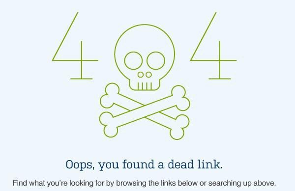 404 Page Design – 30 Fresh And Creative Examples   Inspiration ...