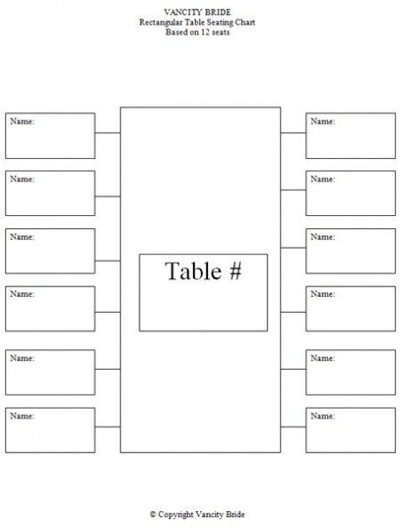 Free: Individual Table Seating Charts | baby things | Pinterest ...