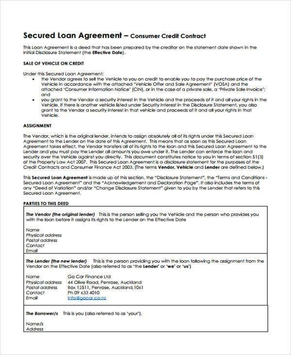 20+ Loan Agreement Formats | Free & Premium Templates