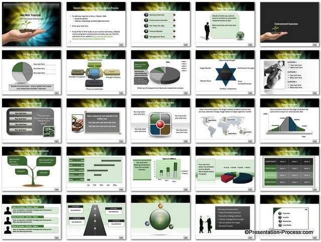 Business Idea Potential PowerPoint Template Set