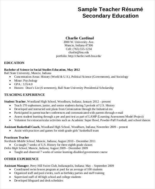 Generic Resume Template - 28+ Free Word, PDF Documents Download ...