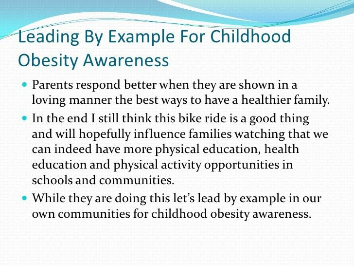 Leading by example for childhood obesity awareness