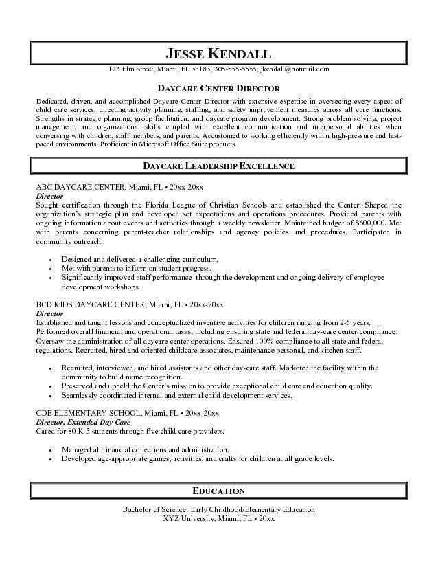 child care sample resume provider resume child care resume