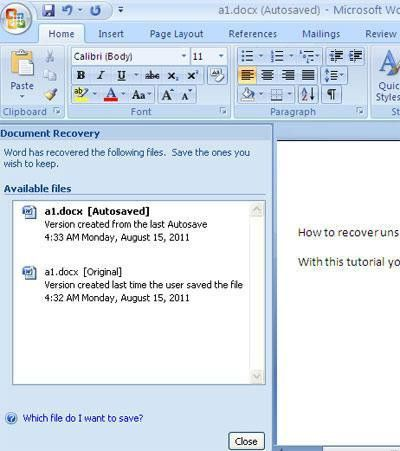 Recover Deleted Word Document – Here're Perfect Solutions
