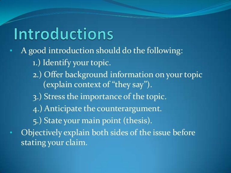 ENG 101 Research Paper: Writing Introductions and Thesis Statements