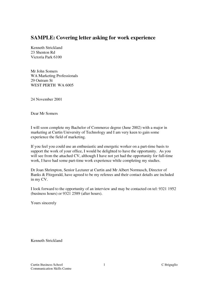 Resume Examples Templates: Sample Cover Letters That Work With ...