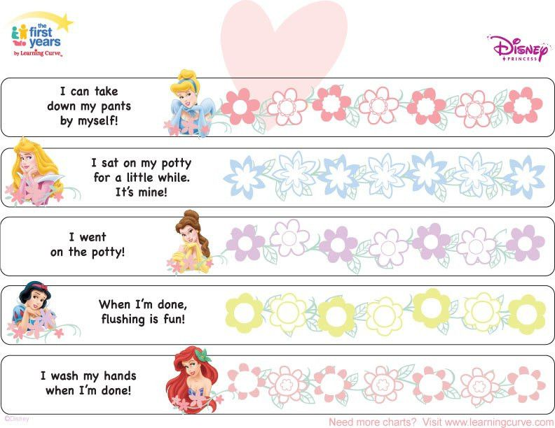 Disney Princess Potty Training Chart | Potty Training Concepts