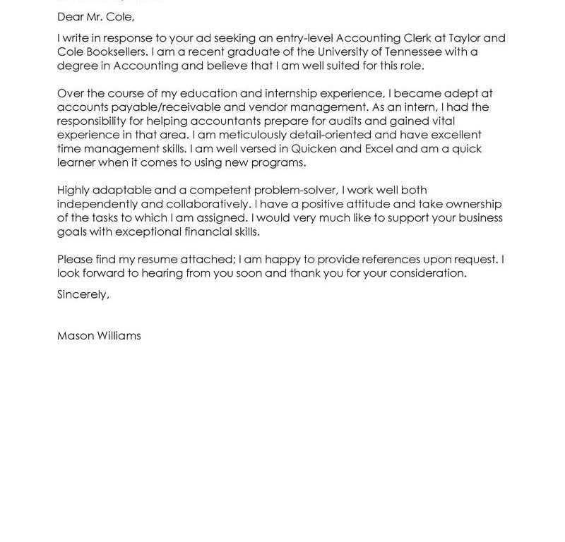Clever Design Clerkship Cover Letter 15 Best Accounting Clerk ...
