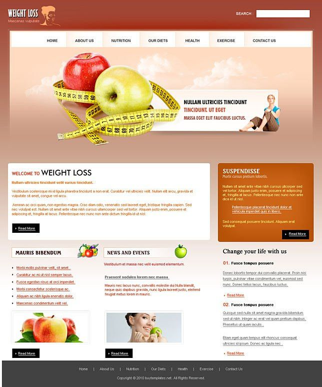 Best html web templates for weight loss centers