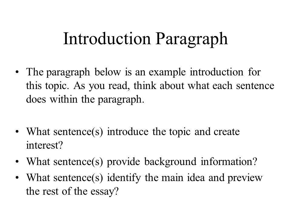 Introduction & Conclusion Paragraphs - ppt video online download