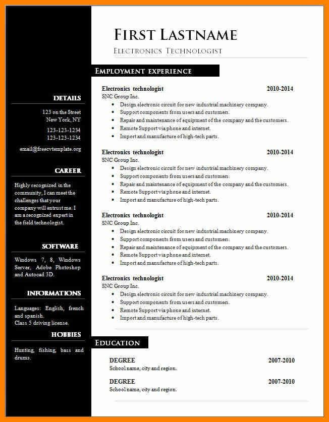 5+ resume template word free download | forklift resume