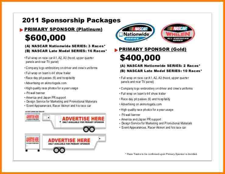 4+ car sponsorship proposal | Proposal Template 2017