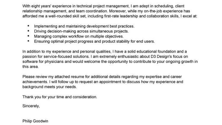 Project Manager Cover Letter Product Manager And Project Manager