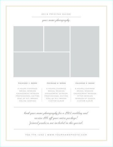 7 best rate card images on Pinterest | Photography business ...