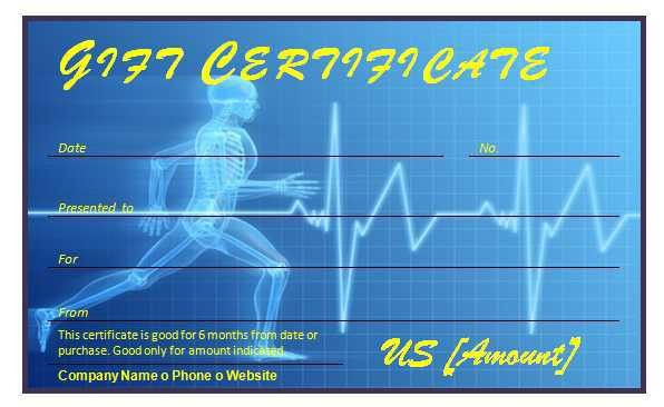 Free Fitness Gift Certificate Template