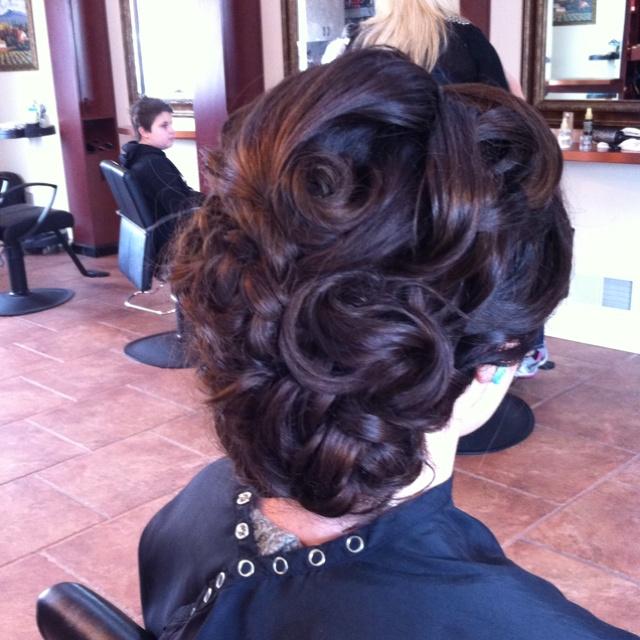 pentecostal hairdos on Pinterest | Pin Curls, Curl Long Hair and Updo