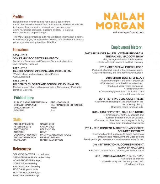 Resume - Nailah Morgan
