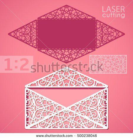 Die Cut Envelope Template Laser Cut Stock Vector 337492583 ...