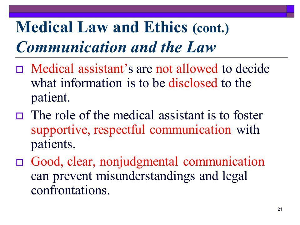 Medical Law and Ethics. - ppt video online download
