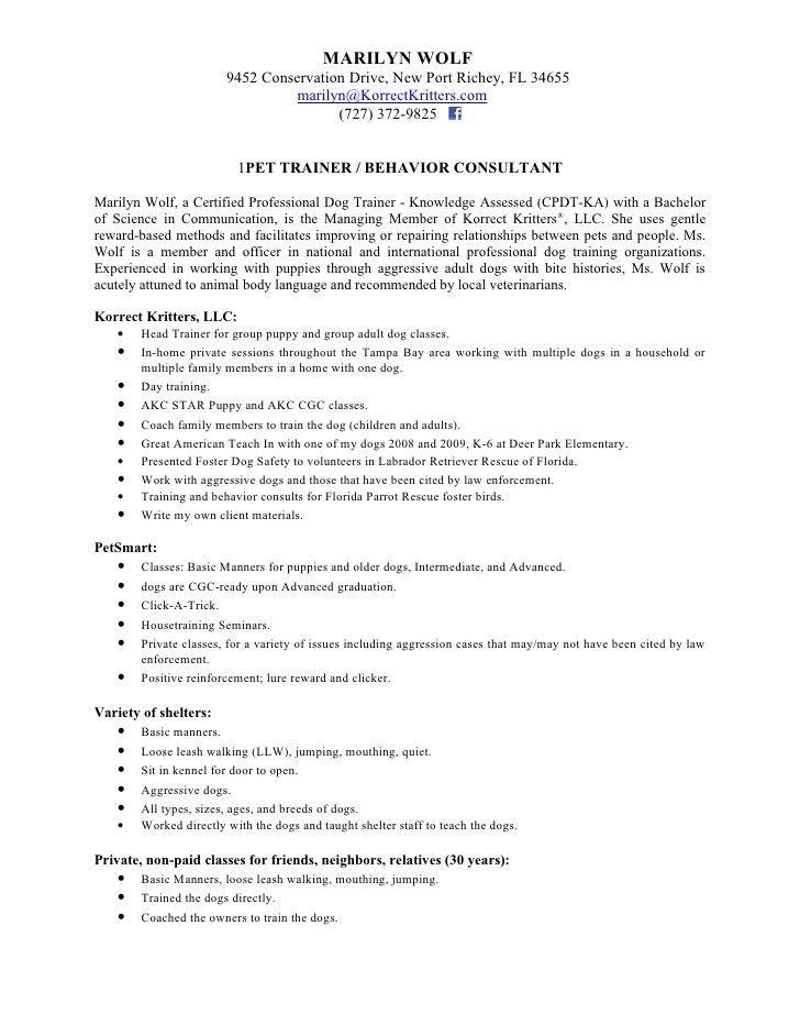 Korrect Kritters Resume