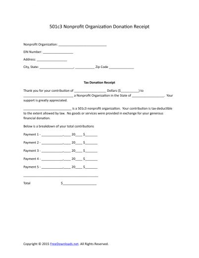 Download 501c3 Donation Receipt Letter for Tax Purposes | PDF ...