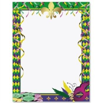 Free Mardi Gras Borders - Cliparts.co