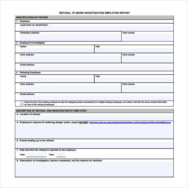 Sample Investigation Report Template - 9+ Free Documents in PDF, Word