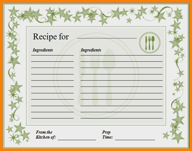 10+ recipe card template for word | resume language
