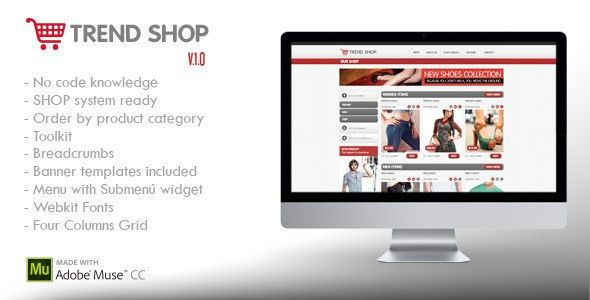 Muse eCommerce Themes & Templates from ThemeForest