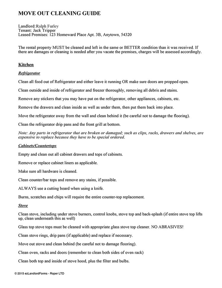 Tenant Move Out Notice – Vacating Tenant Notices | EZ Landlord Forms