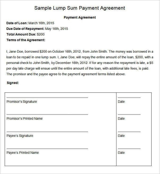 11+ payment agreement sample | a cover letters