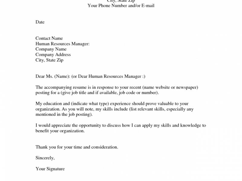 Closing Cover Letter - Resume Templates