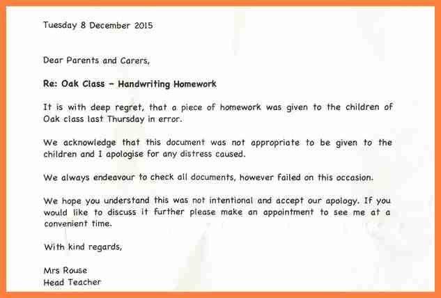 5+ apology letter to teacher for not doing homework | Life ...