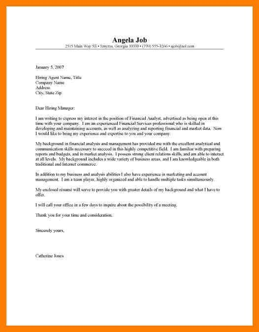 13+ financial analyst cover letter no experience   xavierax