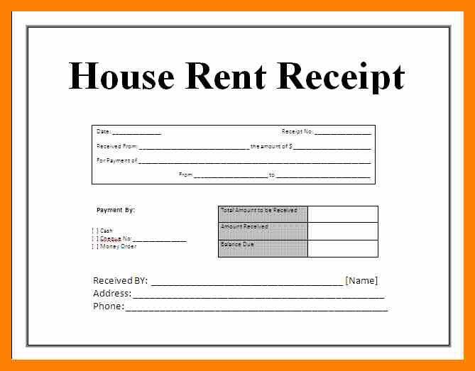 Printable Receipt Form. 7+ Rent Receipt Format Doc | Theatre ...