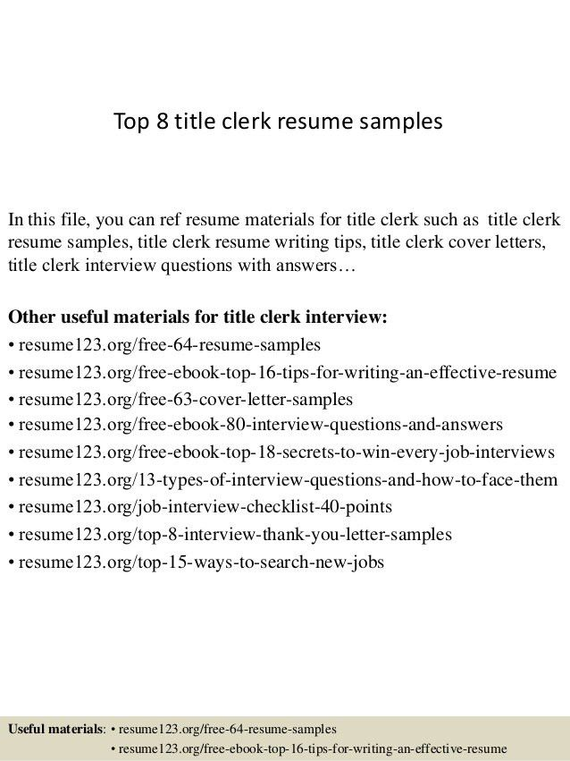 Examples of customer service resume titles