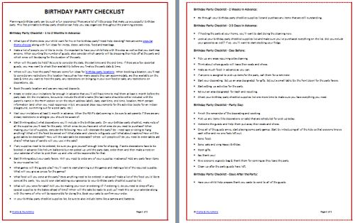 Printable Birthday Party Checklist (Free) - Moms & Munchkins