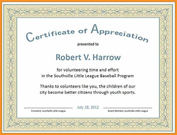 Certificate Of Appreciation Wording Examples, 20+ professional ...