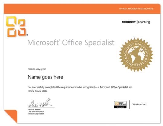 Microsoft Office Specialist (MOS Exam) Authorized Testing Center ...