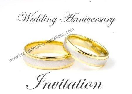 Printable Wedding Anniversary Invitation