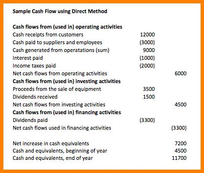 6+ cash flow statement direct method example | Case Statement 2017