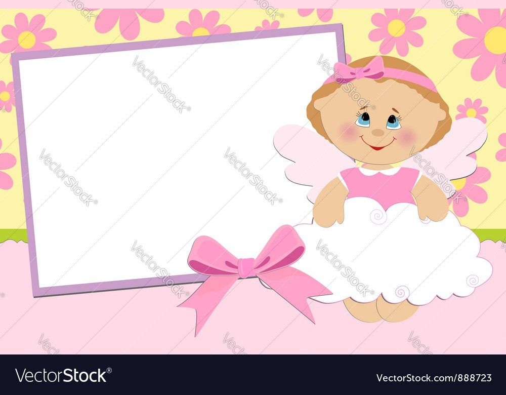 Blank template for greetings card Royalty Free Vector Image